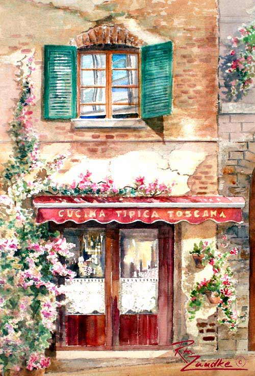 Watercolor House Paintings and Renderings - Shirley Kruse Artist